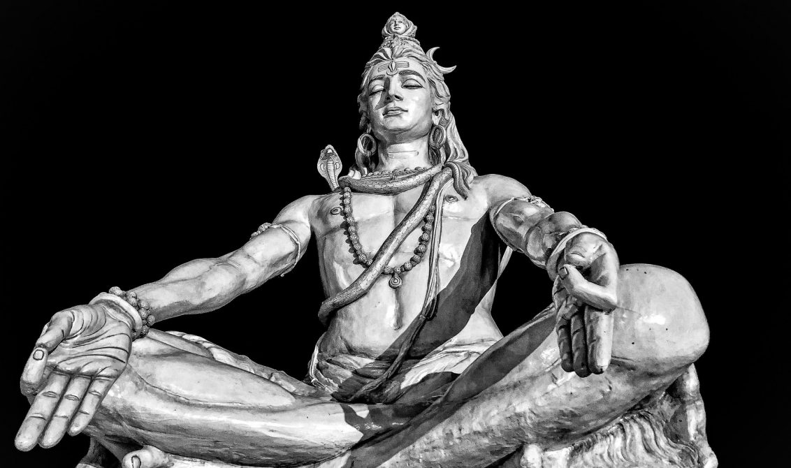Beautiful statue of god shiva