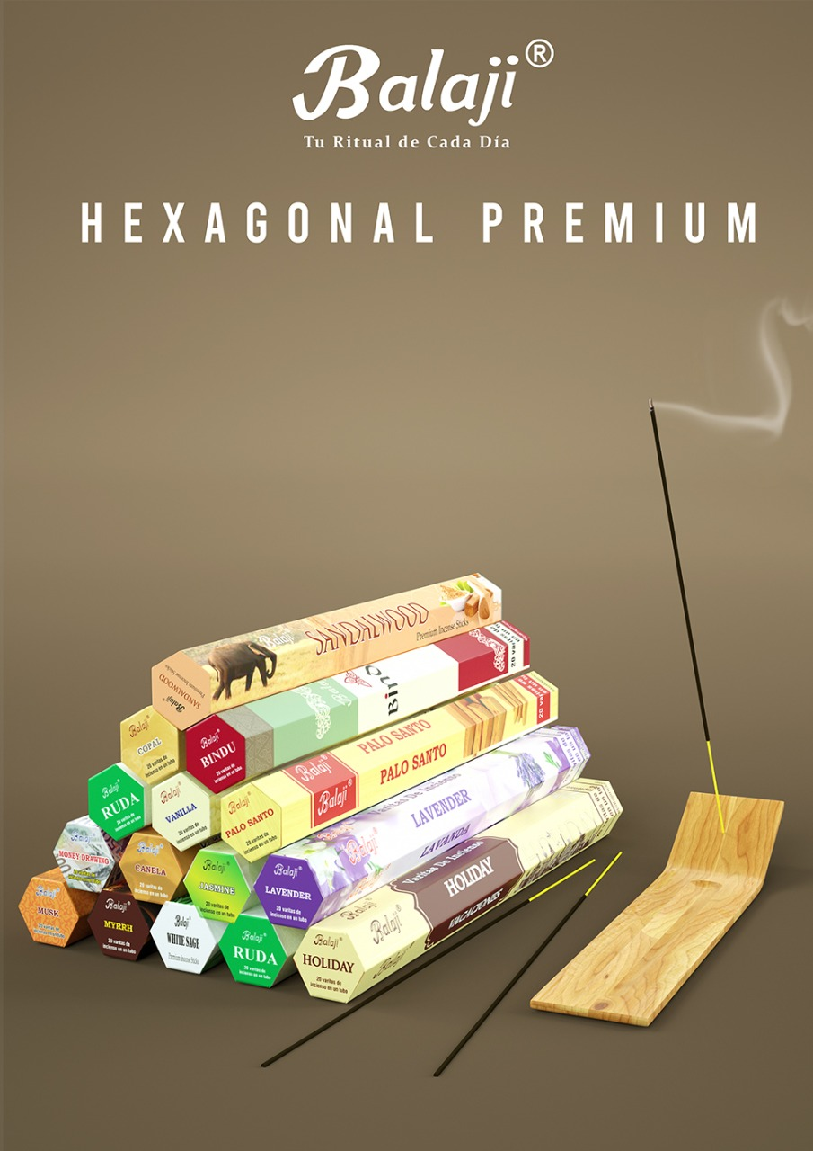Incienso Balaji Hexagonal Premium